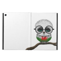Customizable Nerdy Welsh Baby Owl Chic Cover For iPad Air