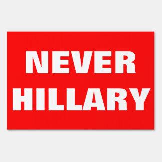 Customizable NEVER HILLARY For President 2016 Yard Sign