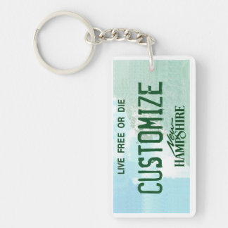 Customizable New Hampshire license plate keychain