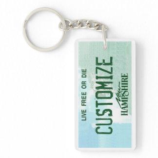 Customizable New Hampshire license plate keychain
