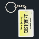 "Customizable New Jersey license plate keychain<br><div class=""desc"">Customizable New Jersey license plate keychain</div>"