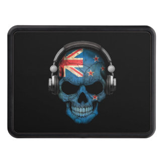 Customizable New Zealand Dj Skull with Headphones Trailer Hitch Cover