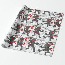 Customizable Ninja Pattern Wrapping Paper