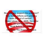 Customizable No Obama Wind Shield Card Business Card Template