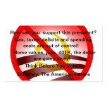 Customizable No Obama Wind Shield Card Business Card