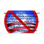 Customizable No Obama Wind Shield Card Business Card Templates