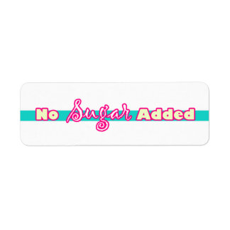 Customizable NO Sugar Added Bakery Labels