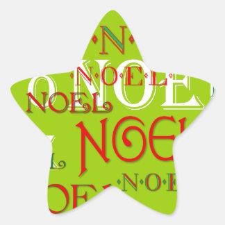 Customizable Noel Christmas Star Sticker