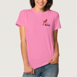 Customizable Northern Cardinal Embroidered Shirt
