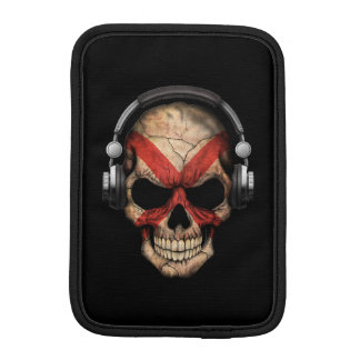 Customizable Northern Ireland Dj Skull iPad Mini Sleeves