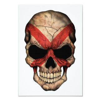 Customizable Northern Ireland Flag Skull 3.5x5 Paper Invitation Card