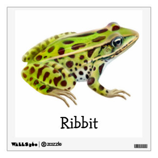 Customizable Northern Leopard Frog Wall Decal