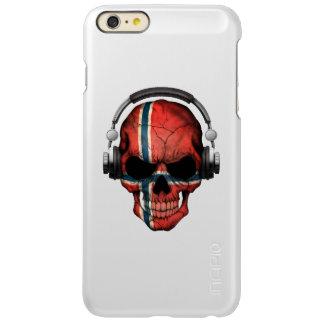 Customizable Norwegian Dj Skull with Headphones Incipio Feather® Shine iPhone 6 Plus Case