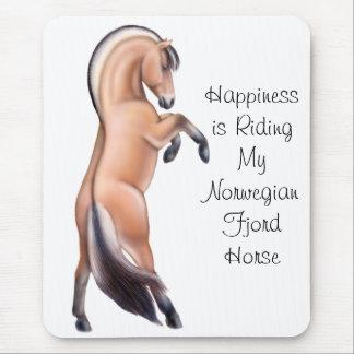 Customizable Norwegian Fjord Horse Rearing Mouse Pad