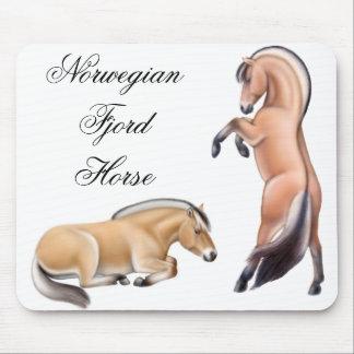 Customizable Norwegian Fjord Horses Mousepad