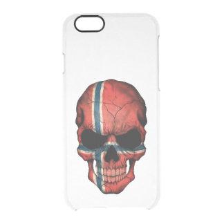 Customizable Norwegian Flag Skull Clear iPhone 6/6S Case