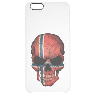 Customizable Norwegian Flag Skull Clear iPhone 6 Plus Case
