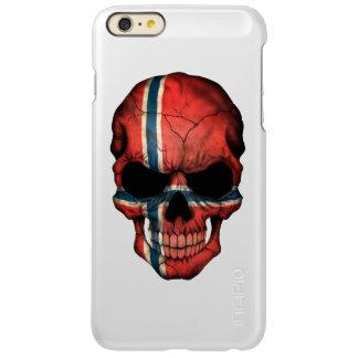 Customizable Norwegian Flag Skull Incipio Feather® Shine iPhone 6 Plus Case