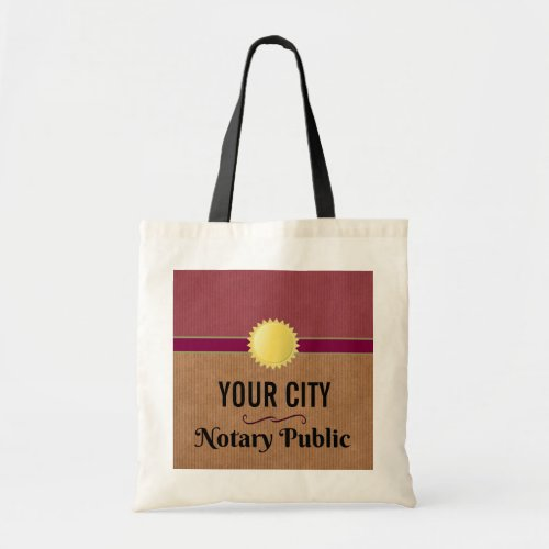 Customizable Notary Public Pride with Your City Budget Tote Bag