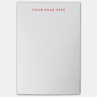Customizable Note Stickie Pad in Red