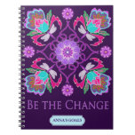 Customizable Notebook - Be The Change - Dragonfly