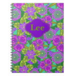Customizable Notebook Night Orchids in Green