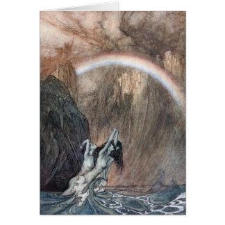 customizable notecard, Rackham Rhein Maidens Card