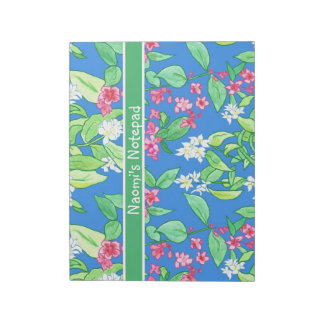 Customizable Notepad or Jotter, Spring Blossoms