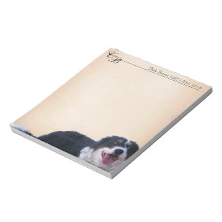 Customizable Notepad with Border Collie