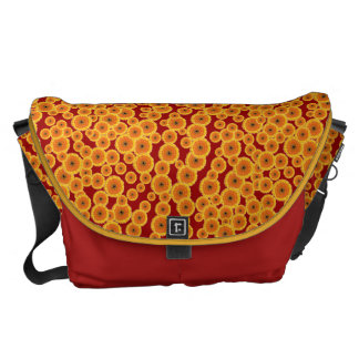 Customizable Novelty Gerber Daisies Courier Bags