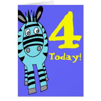 customizable number zebra birthday card greeting card