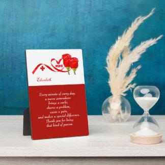 Customizable Nurse s Name Appreciation Gift Plaque