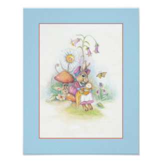 Customizable Nursery Art: mother and baby Poster