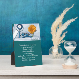 Customizable Nurse's Name Appreciation Gift Plaque