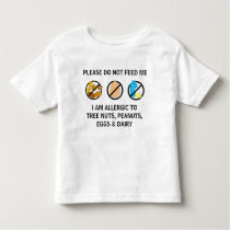 Customizable Nut Dairy Egg Allergy Alert Kids Toddler T-shirt