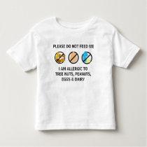 Customizable Nut Dairy Egg Allergy Alert Kids Toddler T-shirt