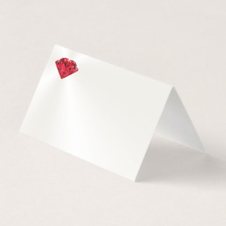 Customizable Off White Ruby Place Cards