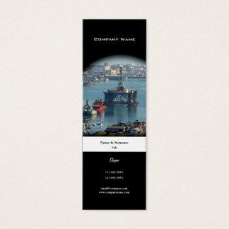 Customizable oil drilling rig watercolor profile mini business card