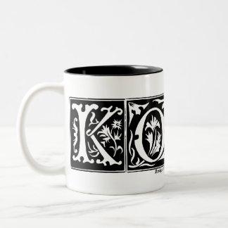 Customizable Old Letters Name Mug KORA