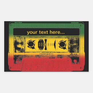 Customizable Old School Reggae Cassette Rectangular Sticker