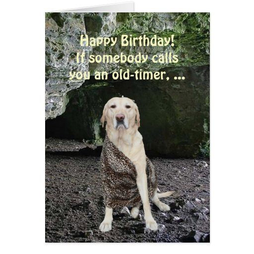 Customizable Old-timer Greeting Card