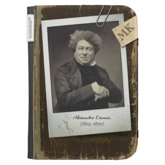 Customizable Old Vintage Book Author Polaroid Pic Kindle Covers