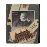 Customizable Old Vintage Book Author Postcard Pic iPad Folio Cover