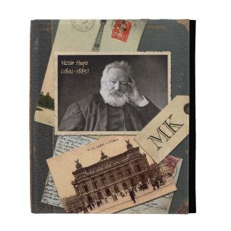 Customizable Old Vintage Book Author Postcard Pic iPad Folio Covers