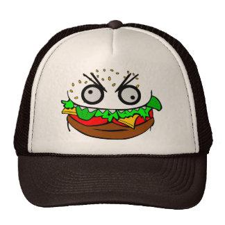customizable om nom nom burger with teeth face trucker hat