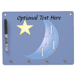 Customizable Once in a Blue Moon Dry Erase Board With Keychain Holder
