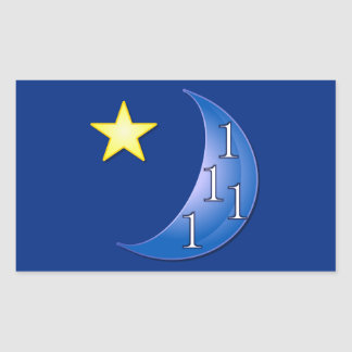 Customizable Once in a Blue Moon Rectangular Sticker