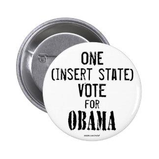 customizable ONE VOTE FOR OBAMA button