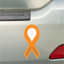 Customizable Orange Awareness Ribbon Car Magnet