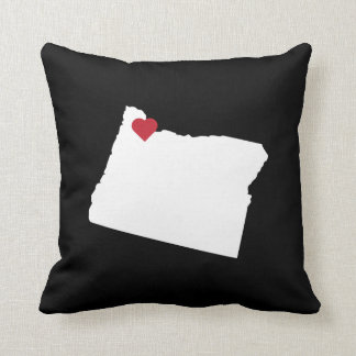 Customizable Oregon Bend State Love Reversible Throw Pillow